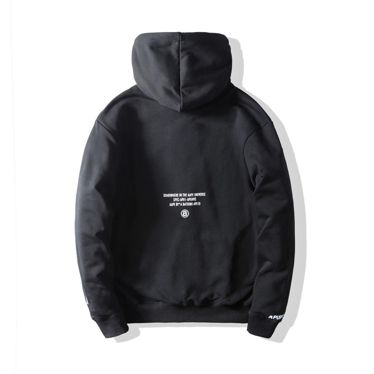 AAPE All Black Hoodie-1