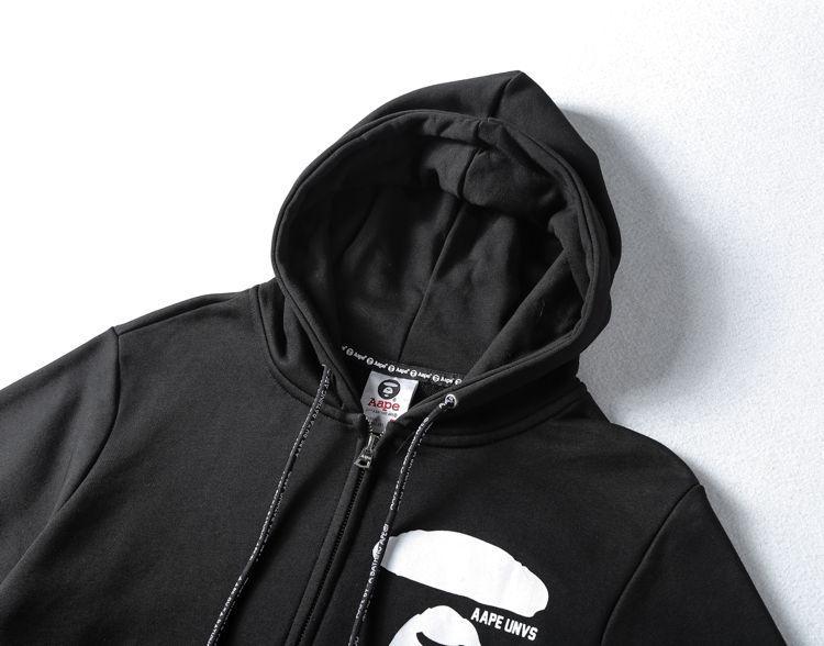 AAPE All Black Hoodie-2