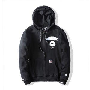Купить худи AAPE All Black Hoodie с бесплатной доставкой