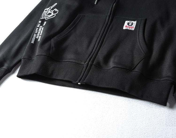 AAPE All Black Hoodie-4