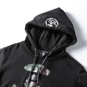 Купить худи AAPE Camo Black Hoodie с бесплатной доставкой