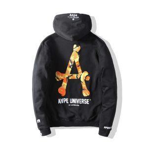 Купить худи AAPE Universe Orange Camo оригинального качества