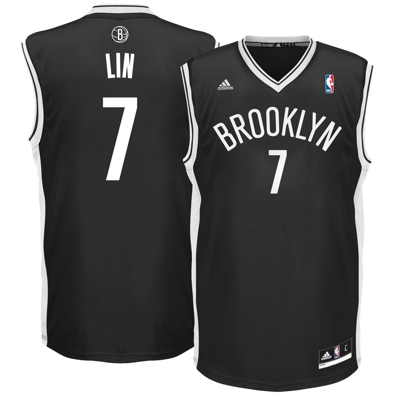 Заказать поиск джерси Jeremy Lin 7 Brooklyn Nets adidas Replica Black