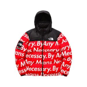 Купить куртку Supreme The North Face By Any Means Nuptse Jacket Red