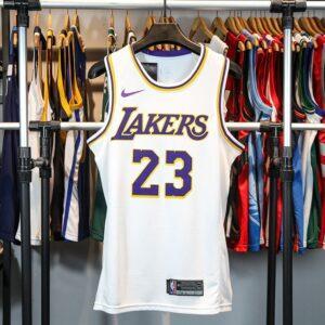 Купить баскетбольную джерси 2018-19 Lebron James Lakers #23 Association White