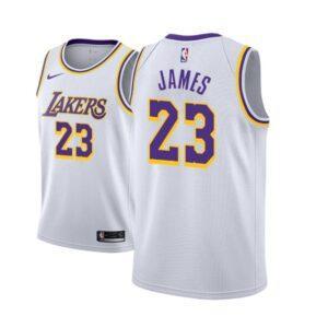 Заказать поиск джерси 2018-19 James Lakers #23 Association White