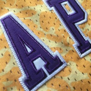 Заказать поиск джерси Bape x Mitchell & Ness Lakers ABC Basketball Swingman