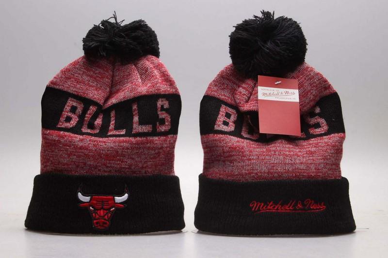 Bulls Red & Black Knit Hat