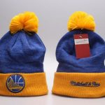 Warriors Mitchell & Ness Knit Hat