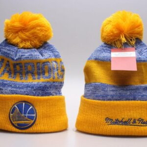 Купить шапку Warriors Mitchell & Ness Knit Hat 2018