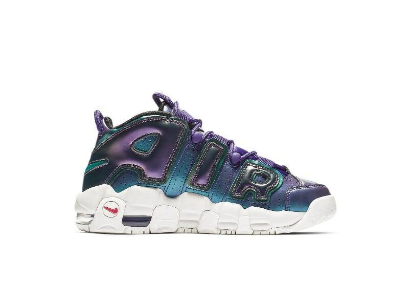 Купить кроссовки Air More Uptempo Iridescent Purple (GS)