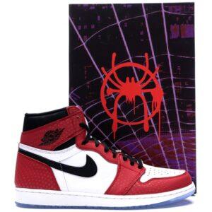 Купить кроссовки Jordan 1 Retro High Spider Man Origin Story (Special Box)
