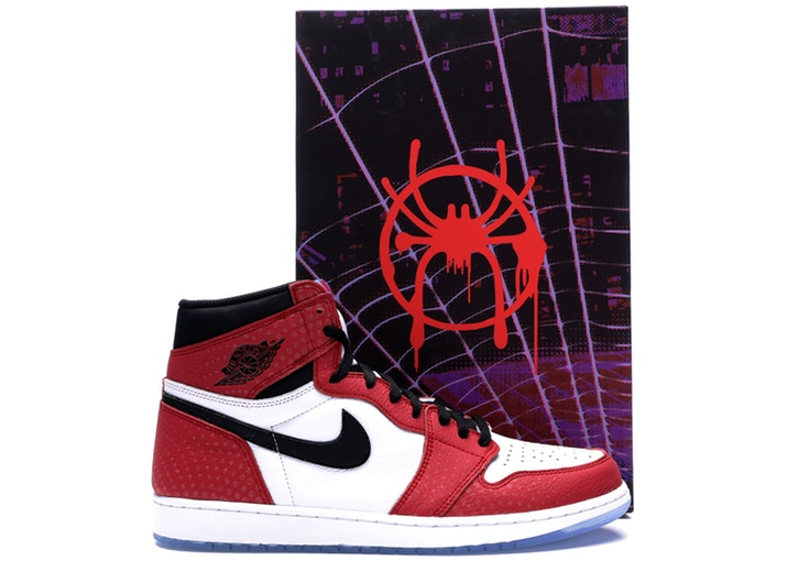Купить кроссовки Jordan 1 Retro High Spider Man Origin Story (Special Box)