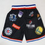 Supreme Nike NBA Teams Authentic Short Black-4