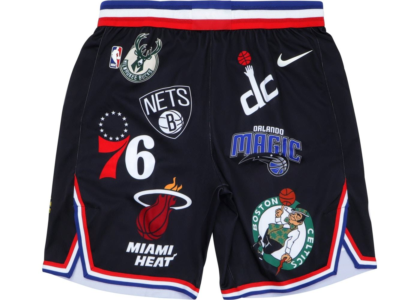 Купить шорты Supreme Nike NBA Teams Authentic Short Black