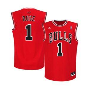 Заказать поиск баскетбольной джерси Chicago Bulls Derrick Rose adidas Red Replica Road Jersey