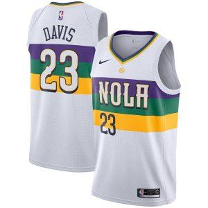 Заказать поиск джерси 2018-19 Anthony Davis Pelicans #23 City White