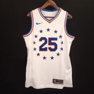 2018-19 Ben Simmons 76ers #25 Earned White