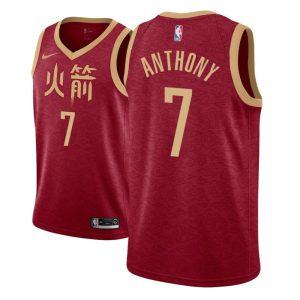 Заказать поиск джерси 2018-19 Carmelo Anthony Rockets #7 City Red