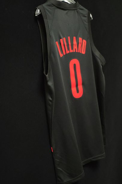 2018-19 Damian Lillard Blazers #0 City Black