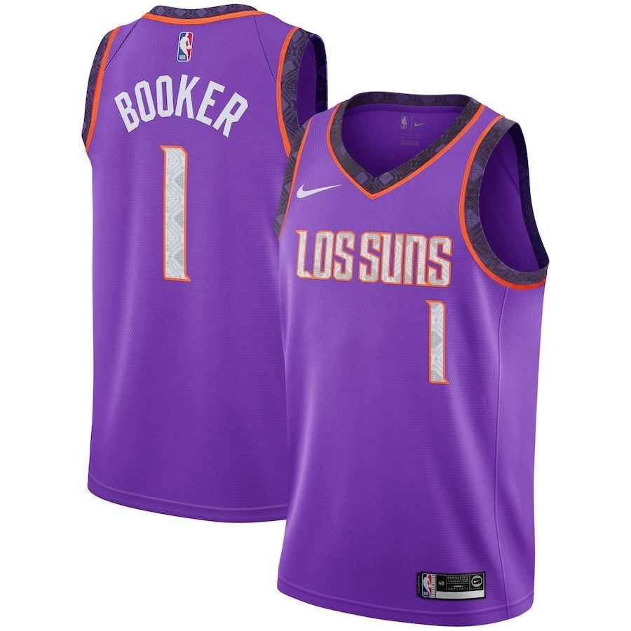 Заказать поиск джерси 2018-19 Devin Booker Suns #1 City Purple