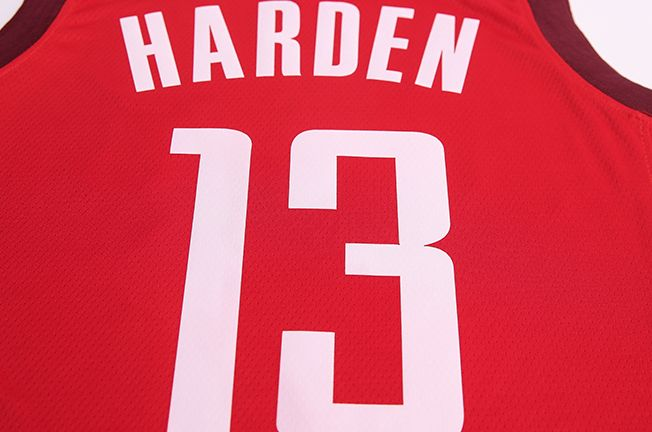2018-19 James Harden Rockets #13 Earned Red