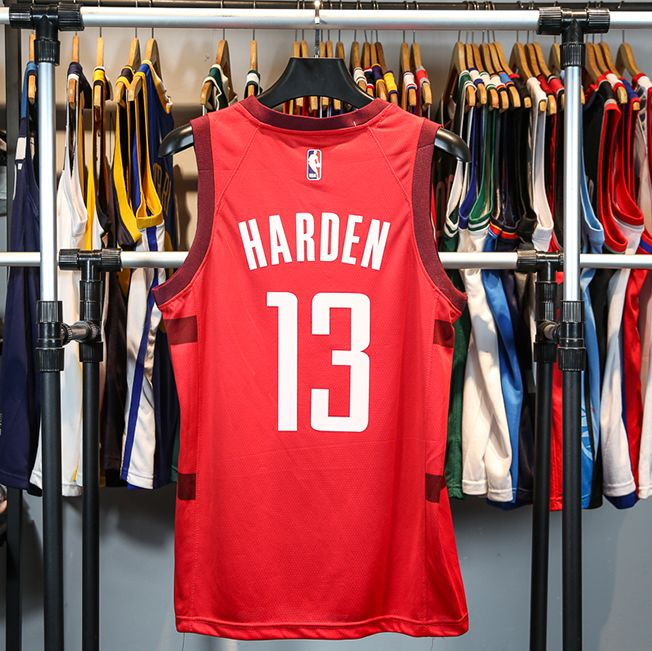 2018-19 James Harden Rockets #13 Earned Red