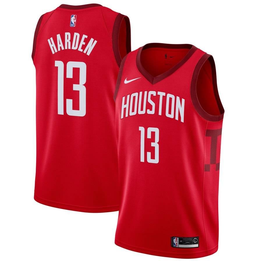 Заказать поиск джерси 2018-19 James Harden Rockets #13 Earned Red