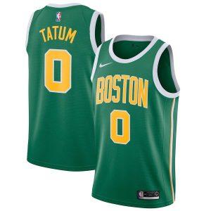 Заказать поиск джерси 2018-19 Jayson Tatum Celtics #0 Earned Green