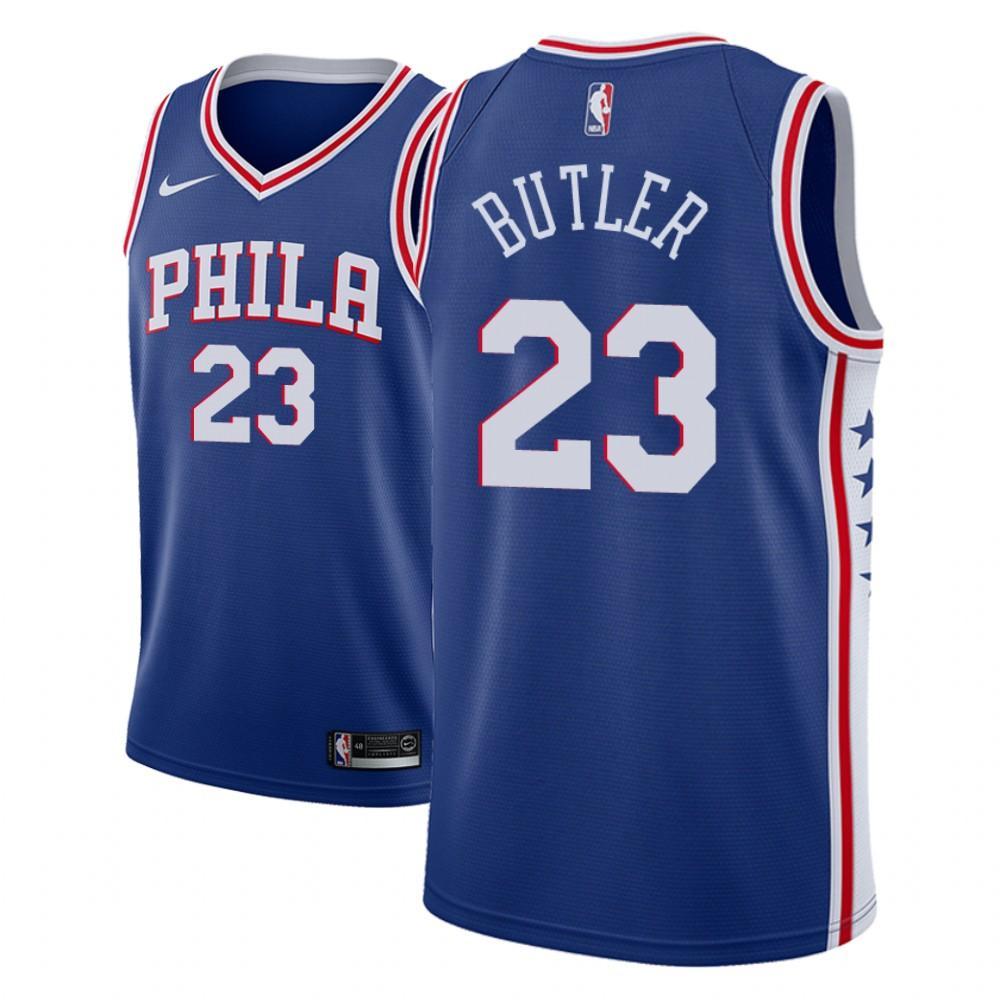 Заказать поиск джерси 2018-19 Jimmy Butler 76ers #23 Icon Blue