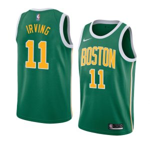 Заказать поиск джерси 2018-19 Kyrie Irving Celtics #11 Earned Green