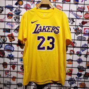 Заказать поиск футболки 2018-19 LeBron James Lakers Gold Icon Tee
