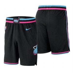 Заказать поиск шорт 2018-19 NBA Men Heat Black City Shorts