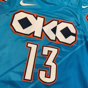 2018-19 Paul George Thunder #13 City Turquoise