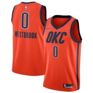 Заказать поиск джерси 2018-19 Westbrook Thunder #0 Earned Orange