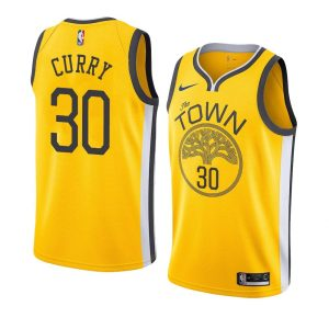 Заказать поиск 2018-19 Stephen Curry Warriors #30 Earned Yellow