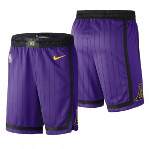 Заказать поиск шорт 2019 Los Angeles Lakers Purple City Shorts