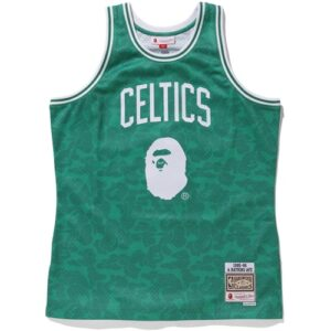 Заказать поиск джерси BAPE x Mitchell & Ness Celtics ABC Swingman Jersey Green