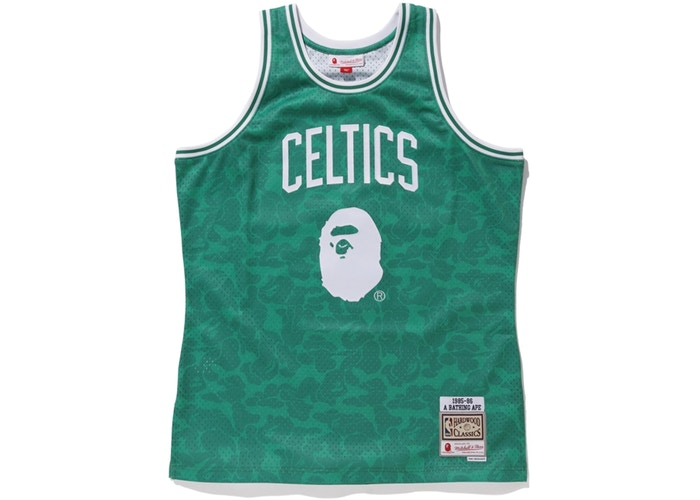 BAPE x Mitchell & Ness Celtics ABC Swingman Jersey Green