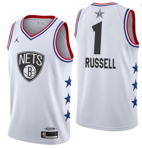 Brooklyn Nets #1 D'Angelo Russell 2019 All-Star Jersey