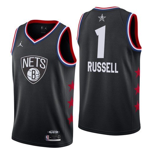 Заказать поиск джерси Brooklyn Nets #1 D'Angelo Russell Black 2019 All-Star