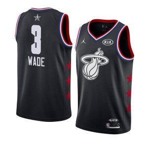 Заказать поиск джерси Dwyane Wade Heat #3 2019 All-Star Black