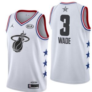 Заказать поиск джерси Dwyane Wade Heat #3 2019 All-Star White