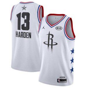 Заказать поиск джерси James Harden Rockets #13 2019 All-Star White