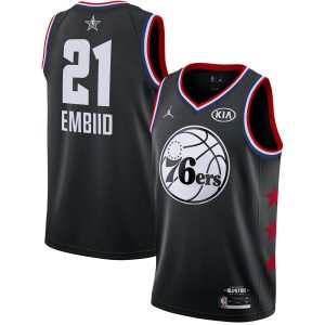 2019 NBA All-Star 76ers Joel Embiid #21 Black Swingman Jersey