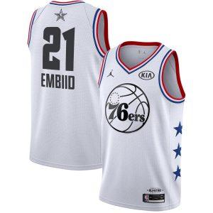 Заказать поиск джерси Joel Embiid 76ers #21 2019 All-Star White