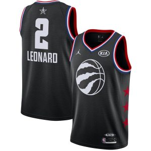 2019 NBA All-Star Raptors Kawhi Leonard #2 Black Swingman Jersey