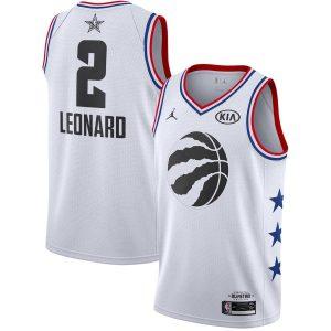 Заказать поиск джерси Kawhi Leonard Raptors #2 2019 All-Star White