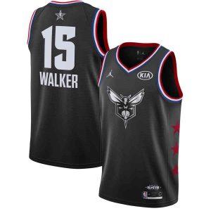 Заказать поиск джерси Kemba Walker Hornets #15 2019 All-Star Black