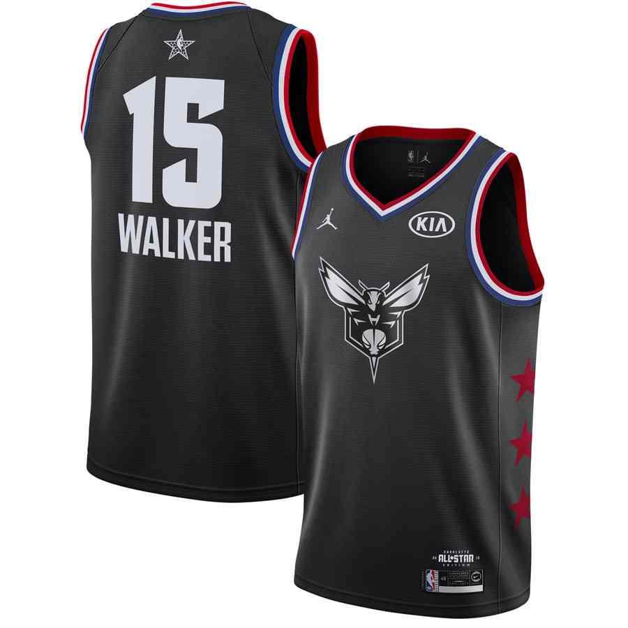 Kemba Walker Hornets #15 2019 All-Star Black Jersey